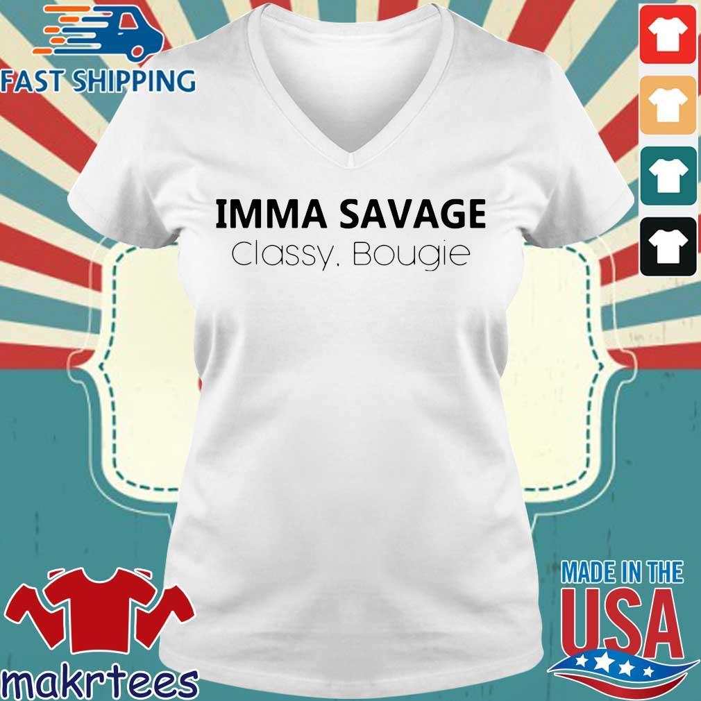 Imma Savage Classy Bougie Shirt Ladies V-neck trang