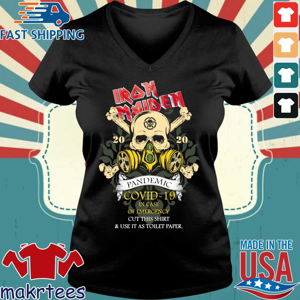 Iron Maiden Romance Pandemic Covid 19 In Case Official T-s Ladies V-neck den