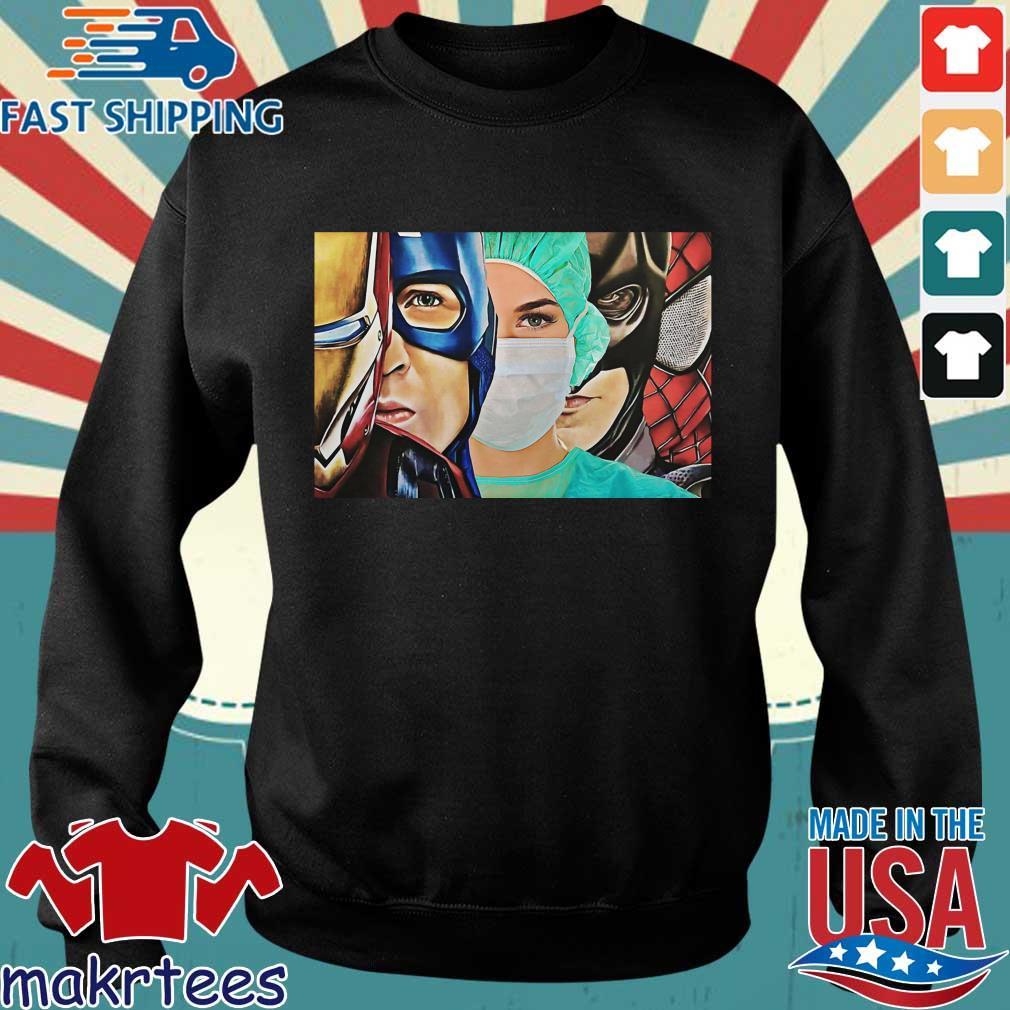 Iron Man Captain Batman Spiderman Nurse Poster Canvas Shirt Sweater den