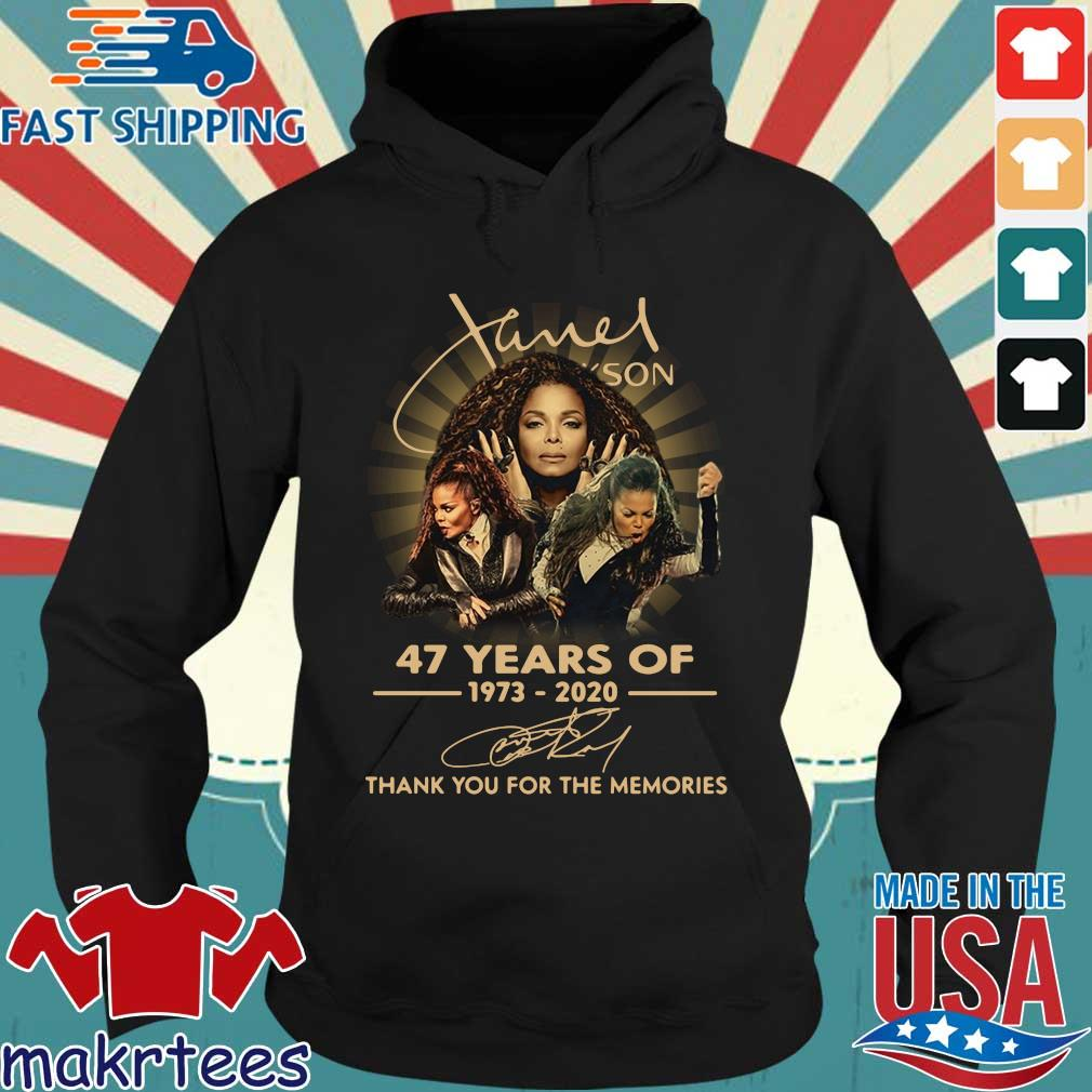 Janet Jackson 47 Years Of 1973-2020 Thank You For The Memories Signature Shirt Hoodie den