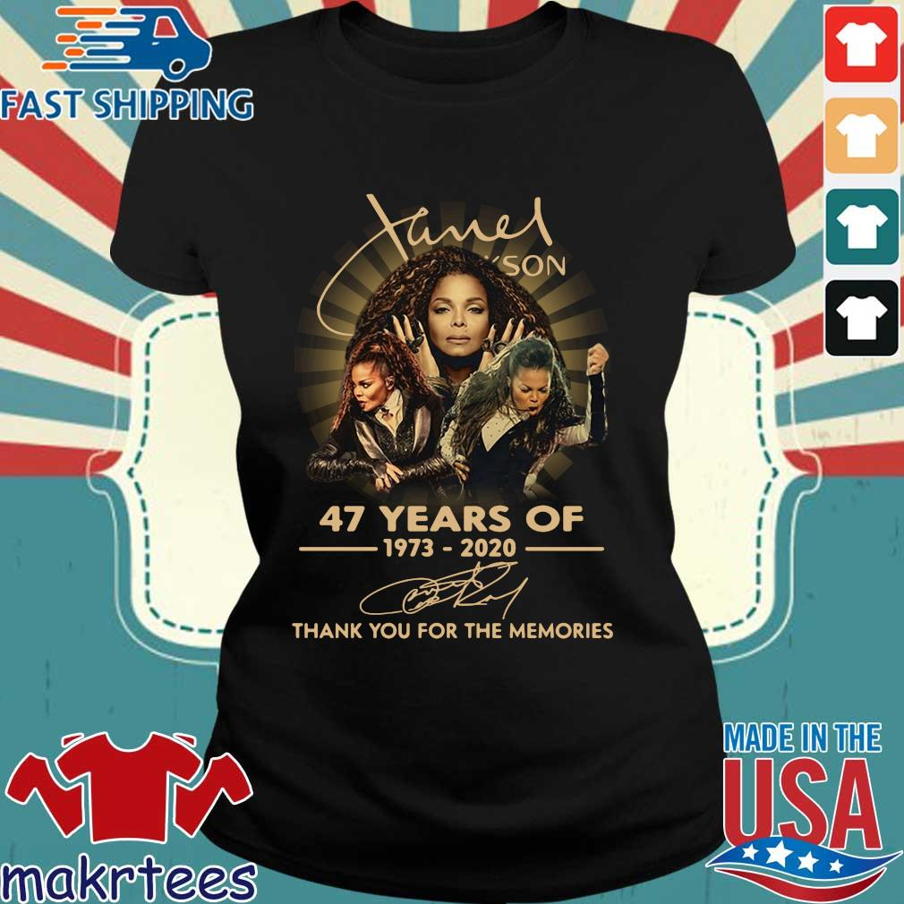 Janet Jackson 47 Years Of 1973-2020 Thank You For The Memories Signature Shirt Ladies den