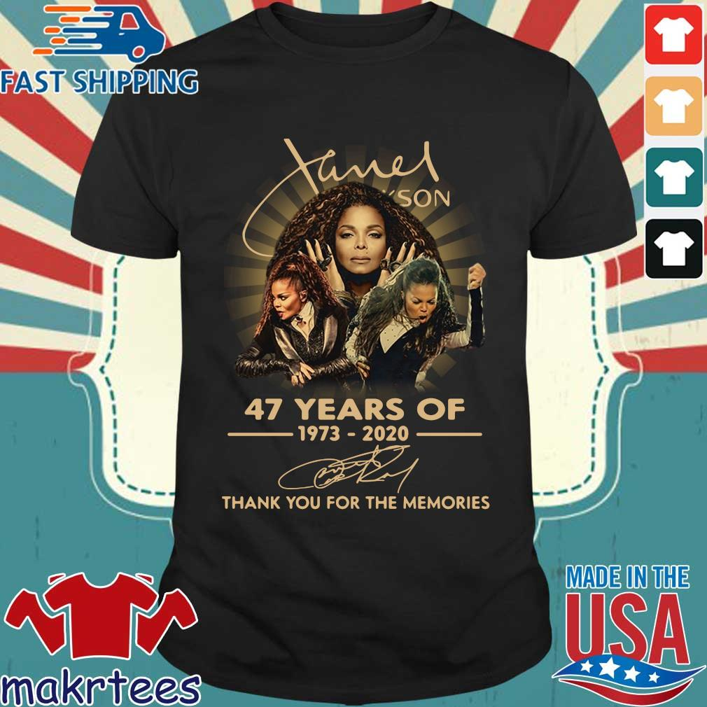 Janet Jackson 47 Years Of 1973-2020 Thank You For The Memories Signature Shirt