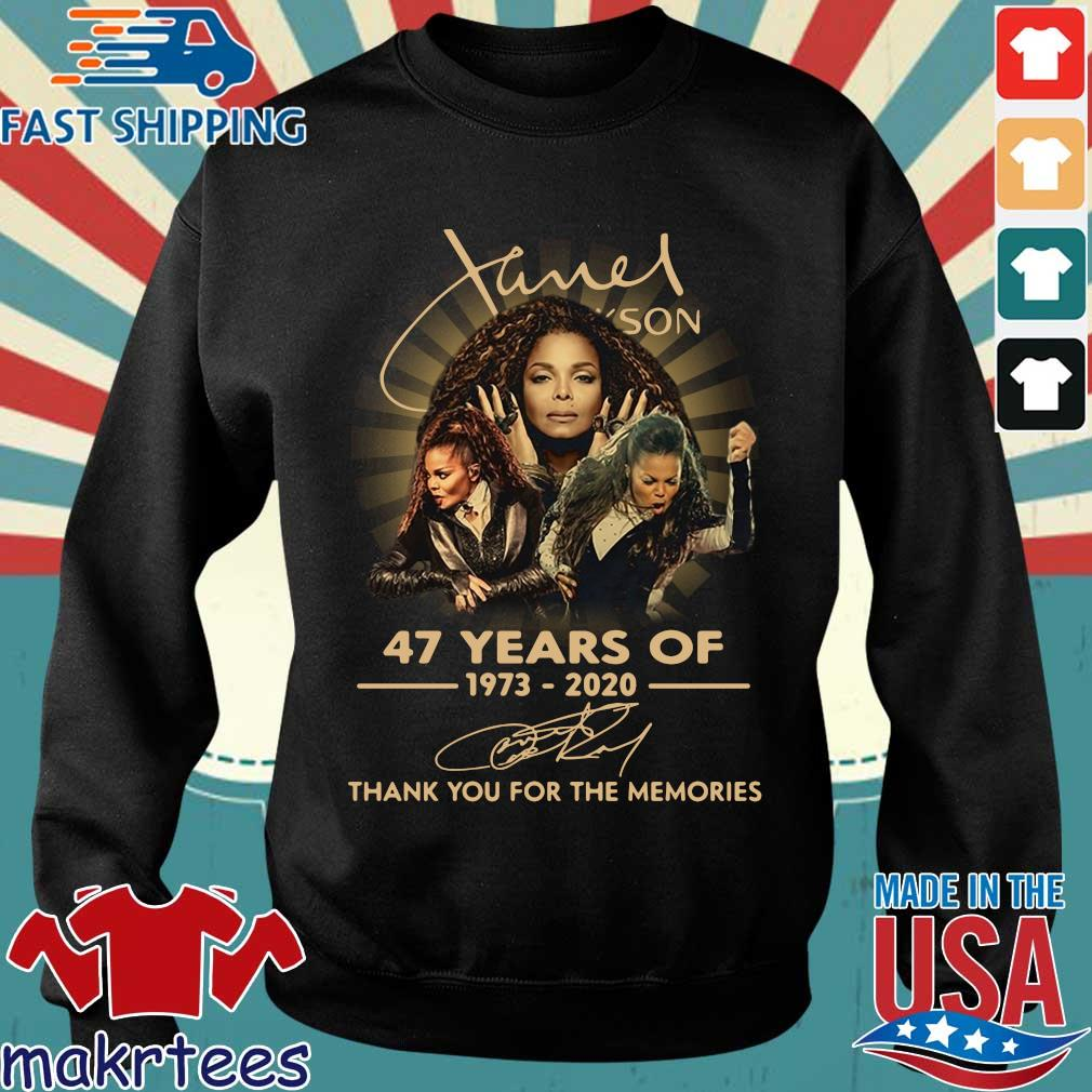 Janet Jackson 47 Years Of 1973-2020 Thank You For The Memories Signature Shirt Sweater den