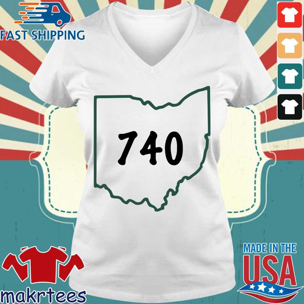 Joe Burrow 740 Ohio Shirt Ladies V-neck trang