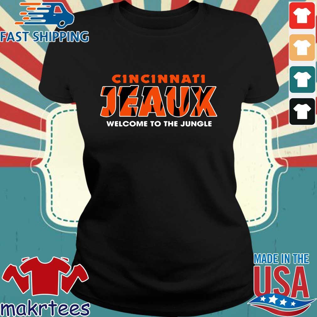 Joe Burrow Bengals Cincinnati Jeaux Welcome To The Jungle Shirt Ladies den