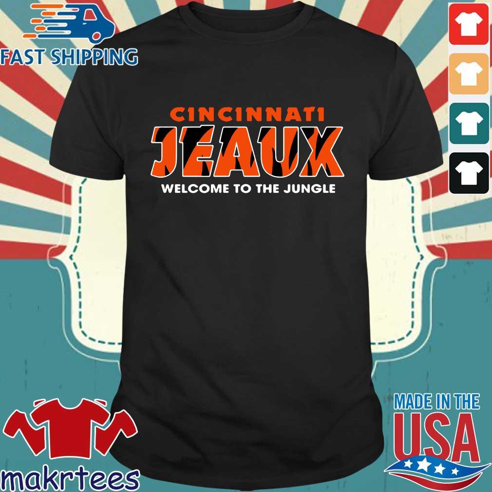 Joe Burrow Bengals Cincinnati Jeaux Welcome To The Jungle Shirt