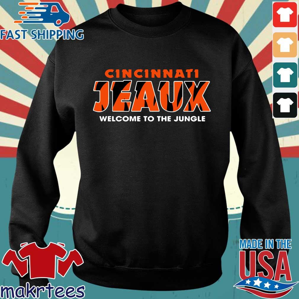 Joe Burrow Bengals Cincinnati Jeaux Welcome To The Jungle Shirt Sweater den