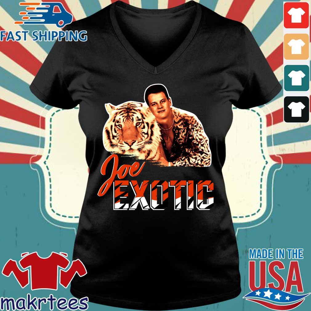 Joe Burrow Joe Exotic Tigers King shirts Ladies V-neck den