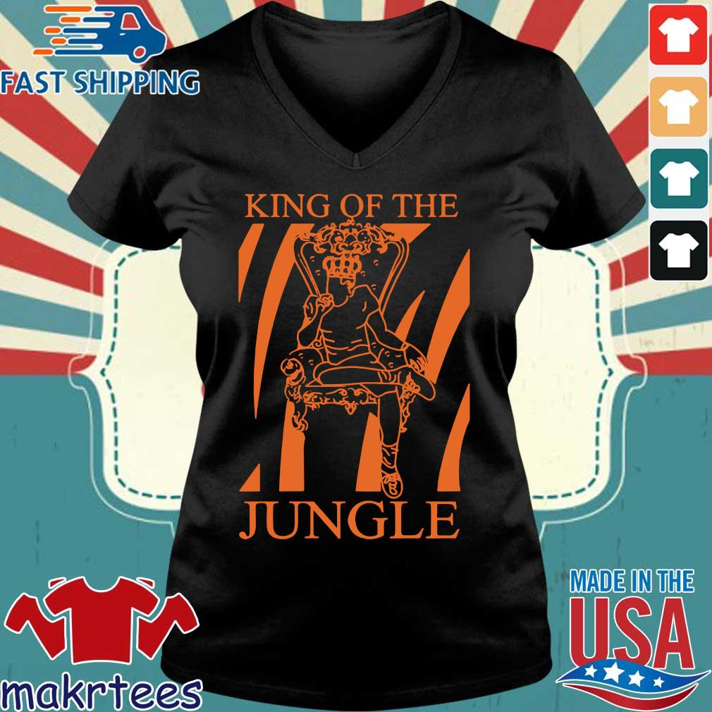Joe Burrow King Of The Jungle Shirt Ladies V-neck den