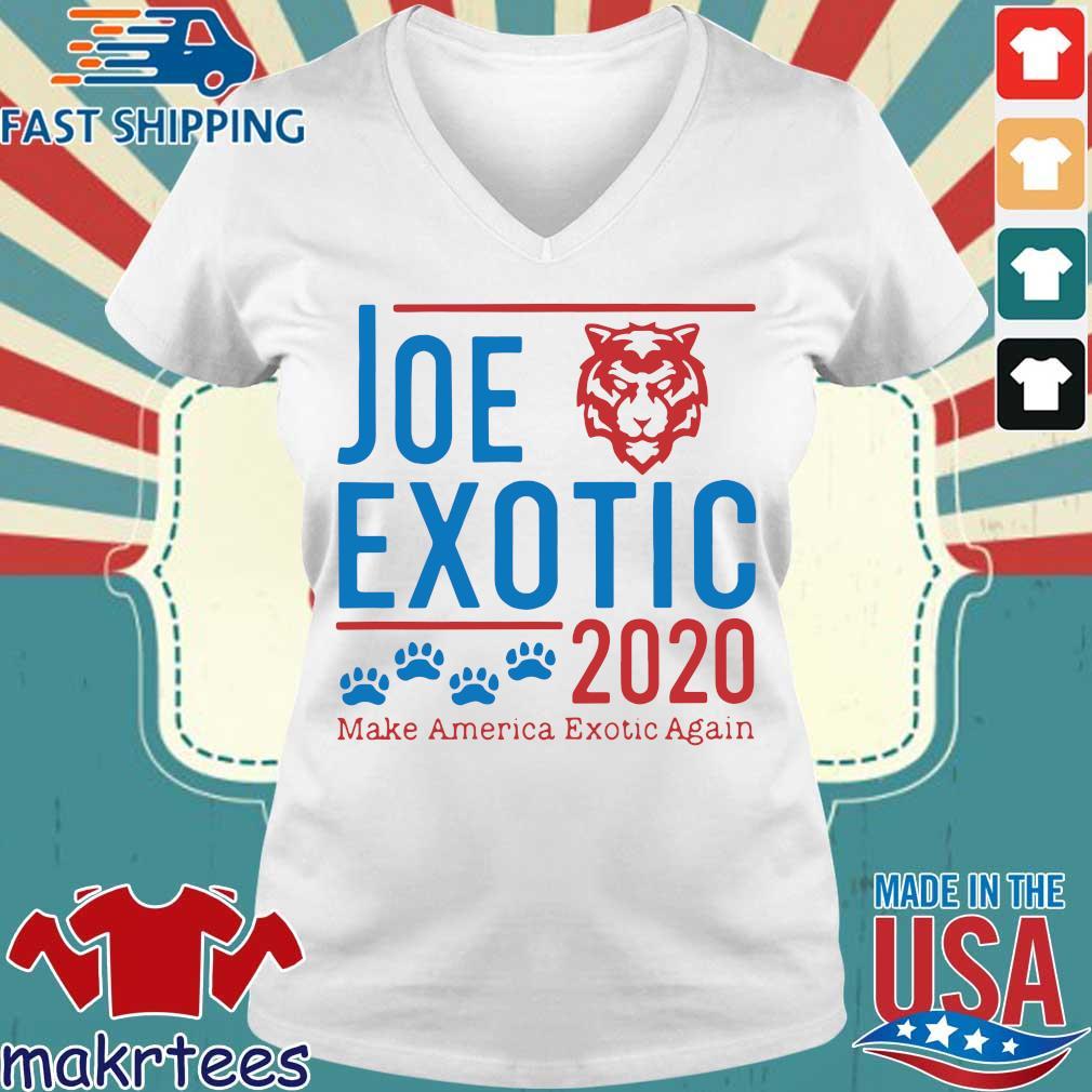 Joe Exotic 2020 Make America Exotic Again Shirt Ladies V-neck trang