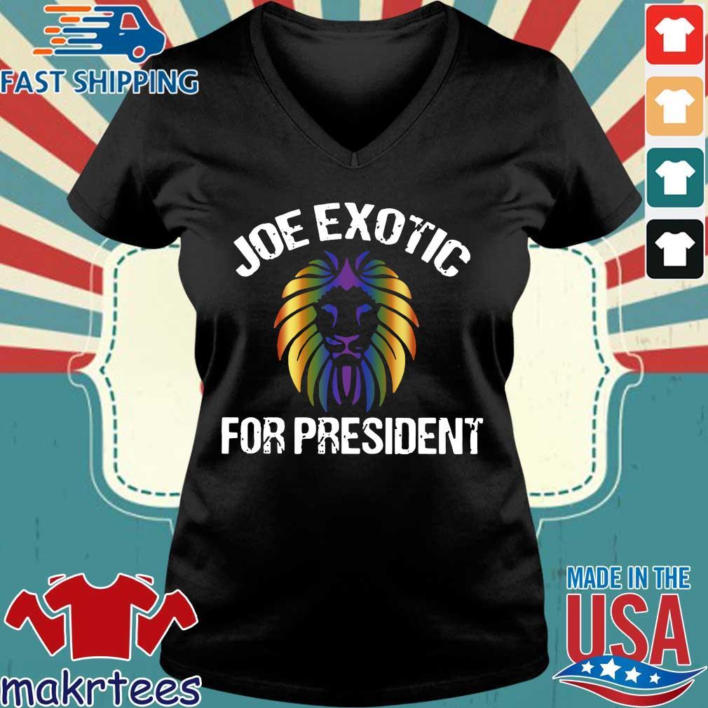 Joe Exotic For President 2020 Shirt Ladies V-neck den
