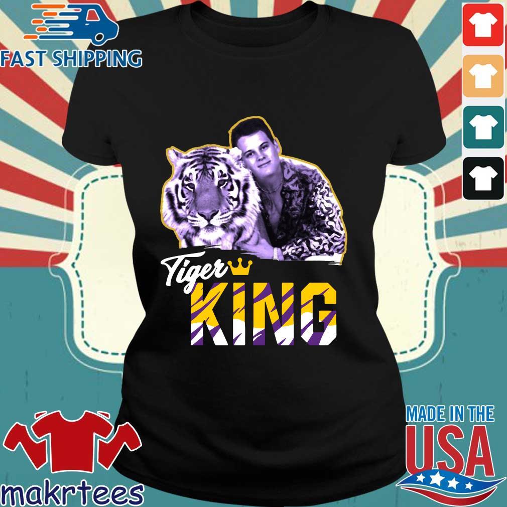 Joe Exotic Joe Burrow Tigers King Tee Shirts Ladies den