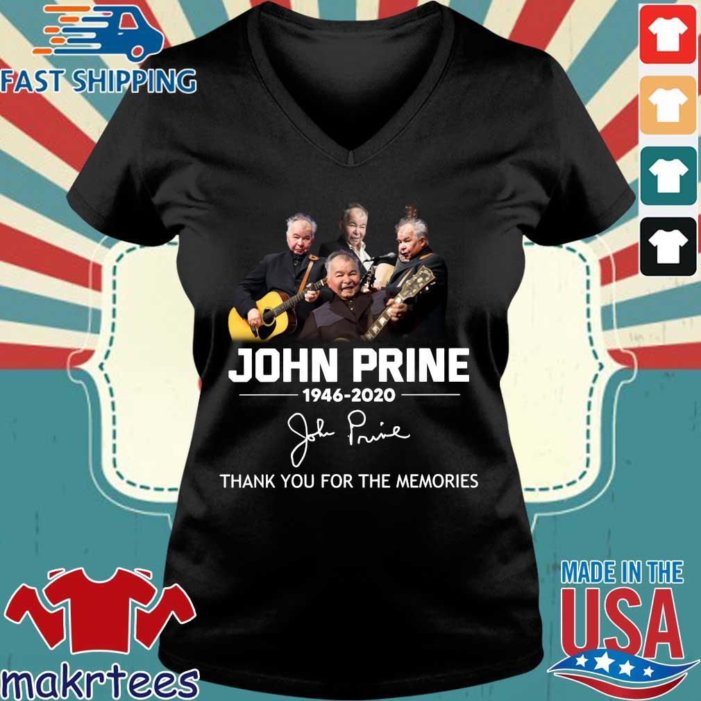 John Prine 1946 2020 Thank You For The Memories Shirt Ladies V-neck den