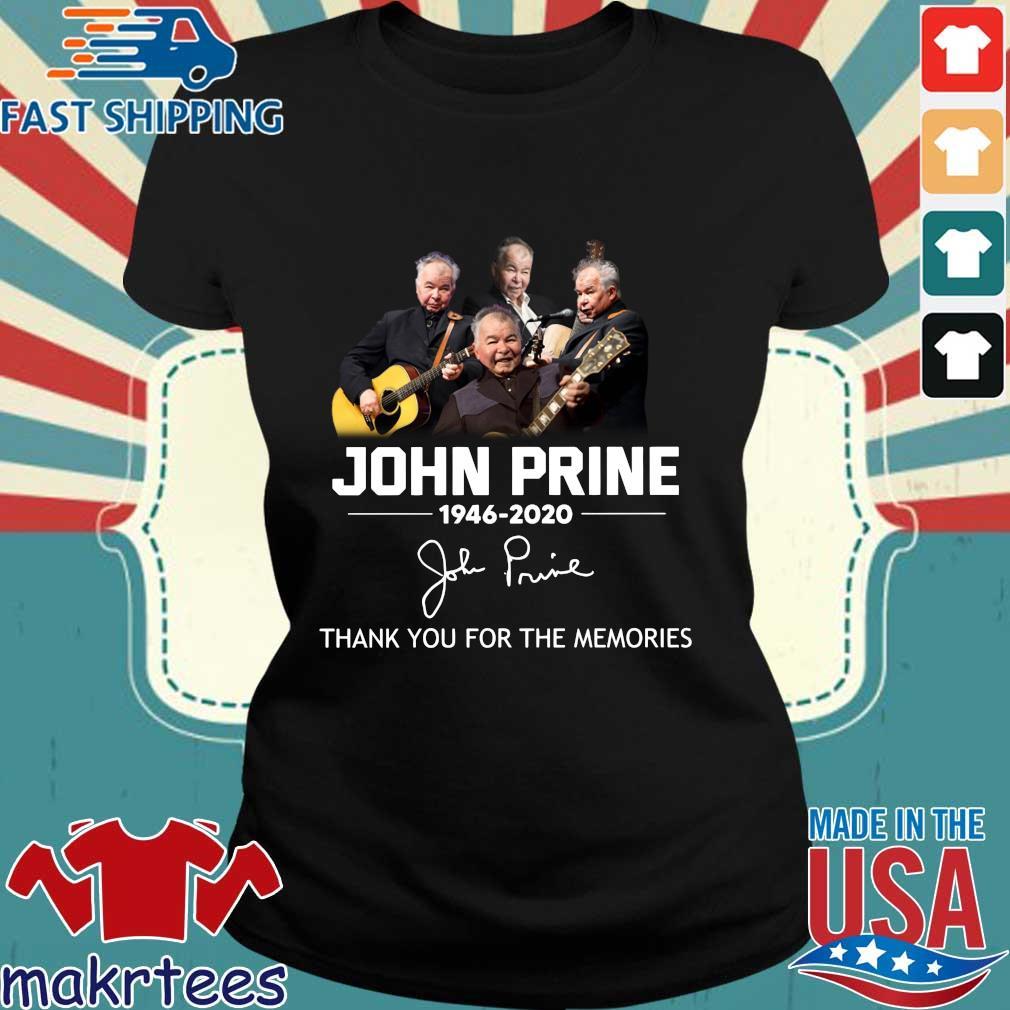 John Prine 1946 2020 Thank You For The Memories Shirt Ladies den