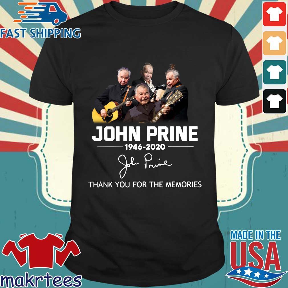 John Prine 1946 2020 Thank You For The Memories Shirt