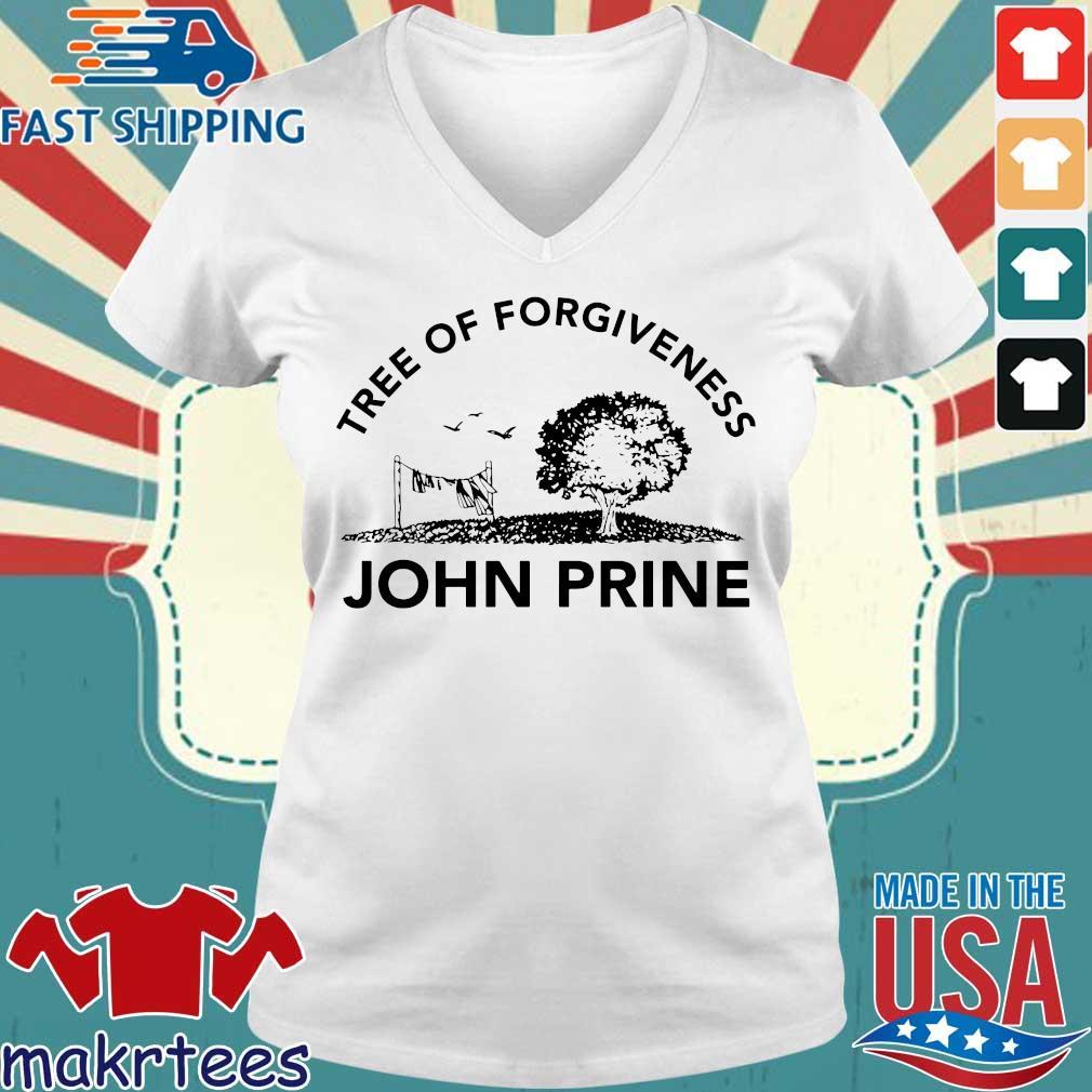 John Prine Tree of Forgiveness Tee Shirt Ladies V-neck trang