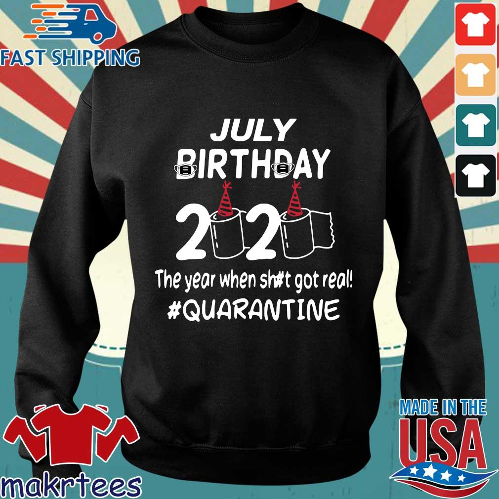 July Birthday 2020 Toilet Paper The Year When Shit Got Real Quarantined Shirt Sweater den