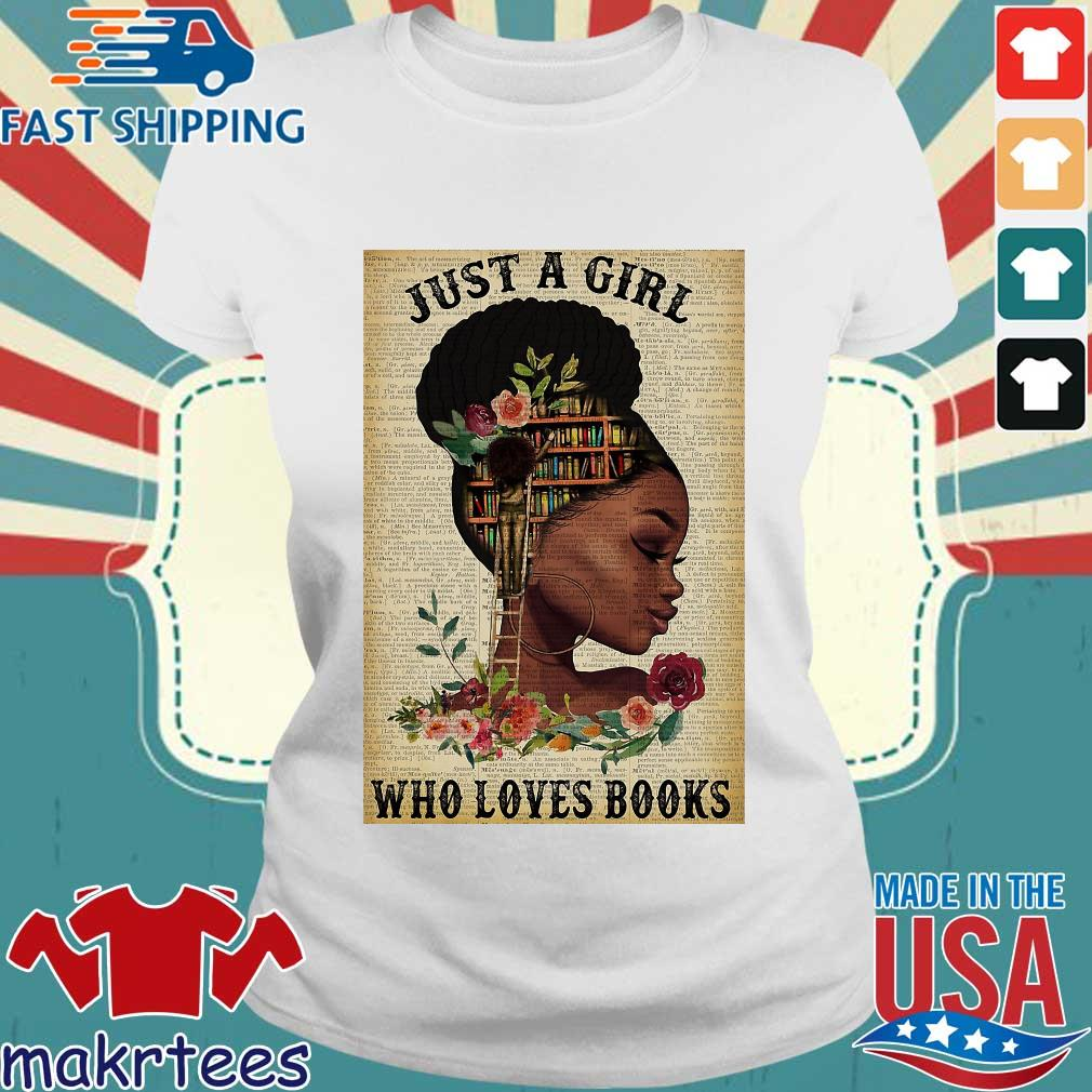Just A Girl Who Loves Books Black Girl Reading Vertical Poster Shirt Ladies trang