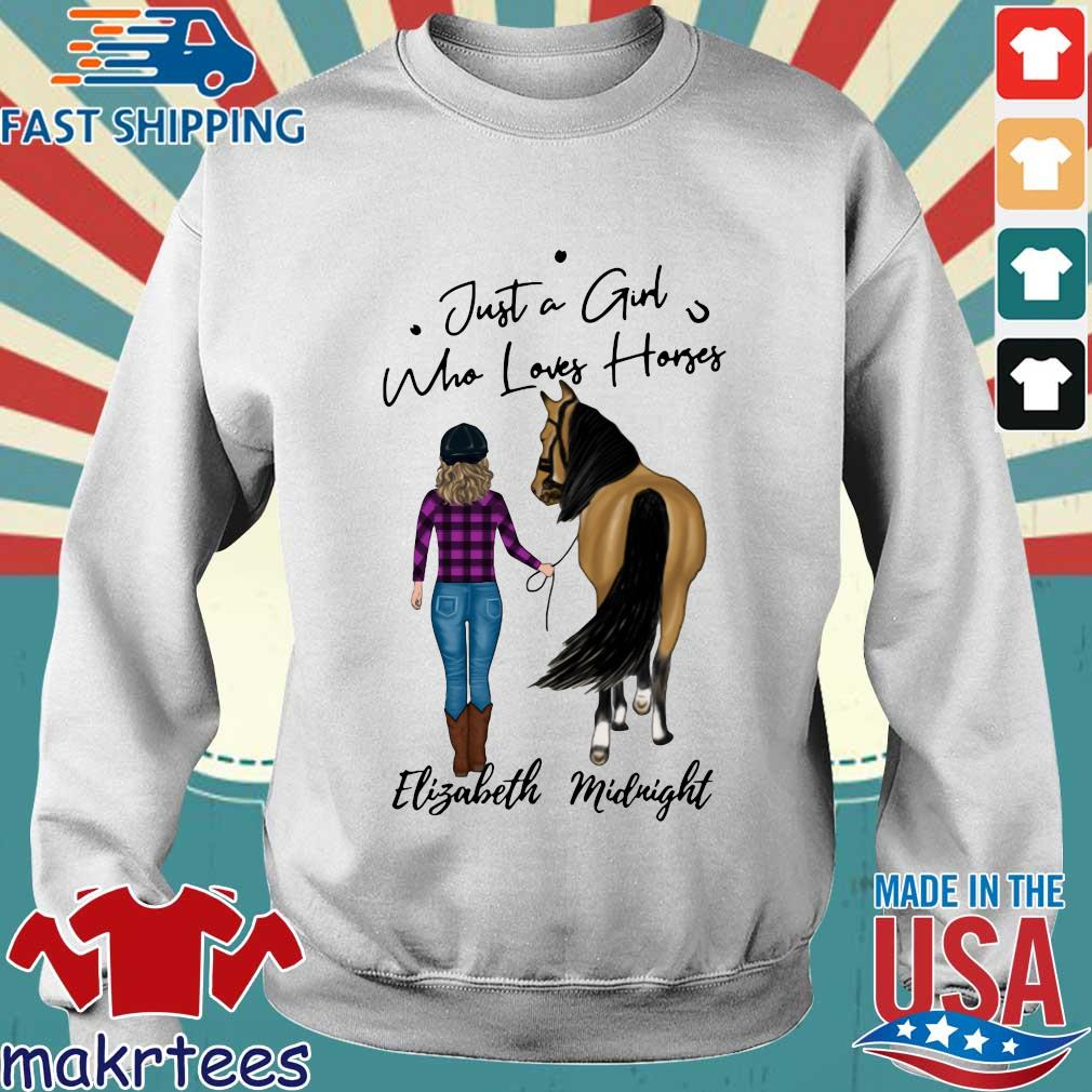 Just A Girl Who Loves Horse Elizabeth Midnight Shirt Sweater trang
