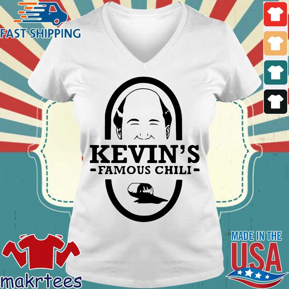 Kevin's Famous Chili Shirt Ladies V-neck trang