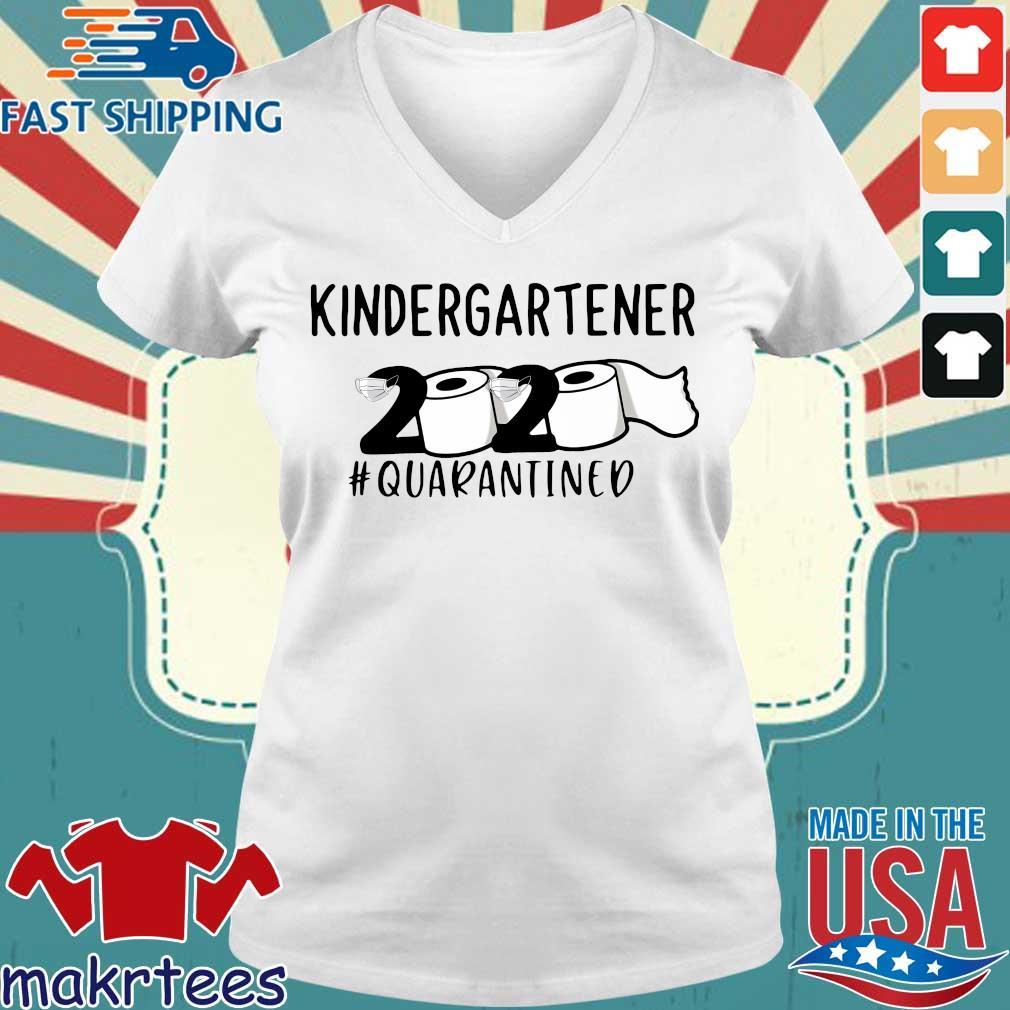 kindergartener 2020 Toilet Paper #quarantined Shirt Ladies V-neck trang