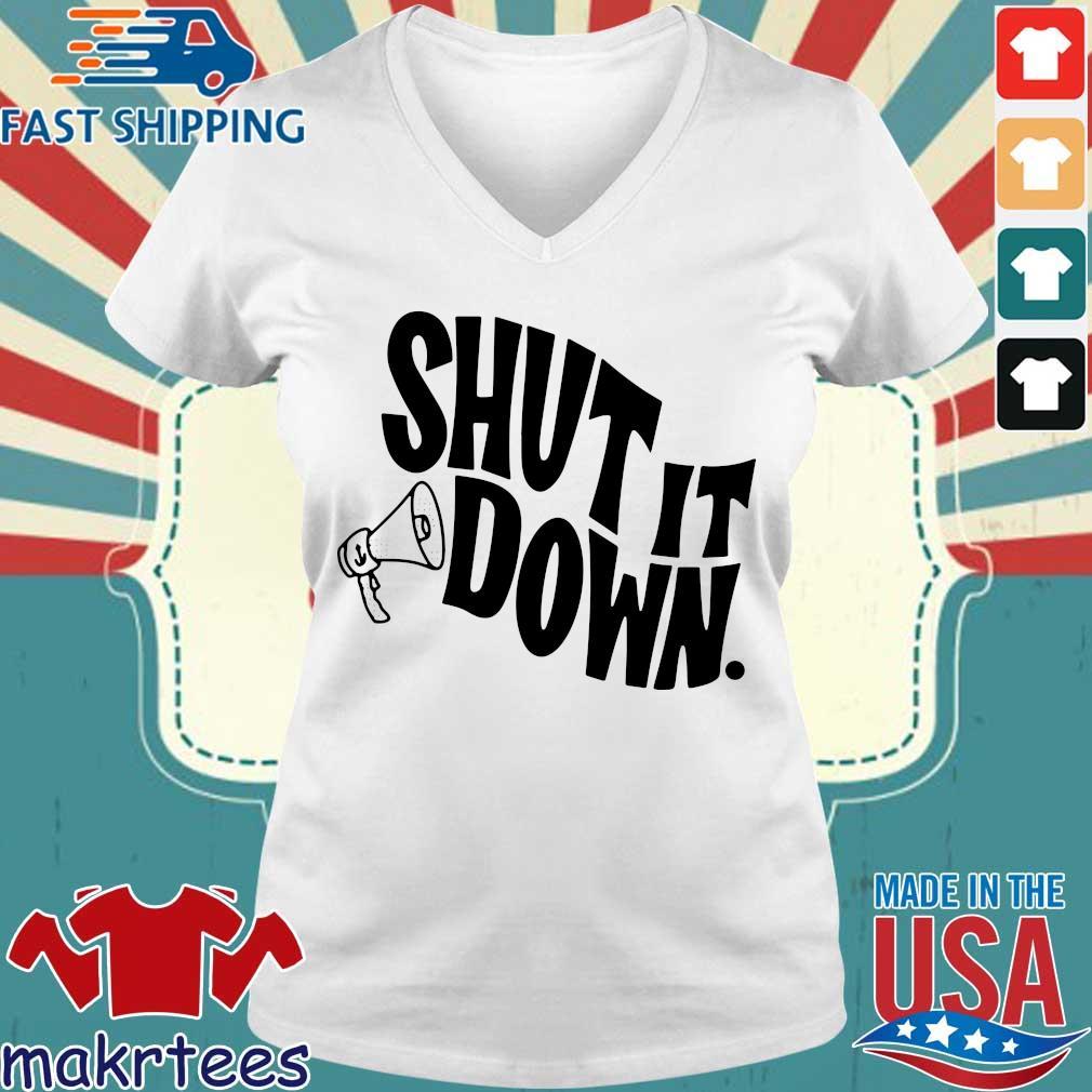 Knock It Off Ri – Shut It Down Shirt Ladies V-neck trang