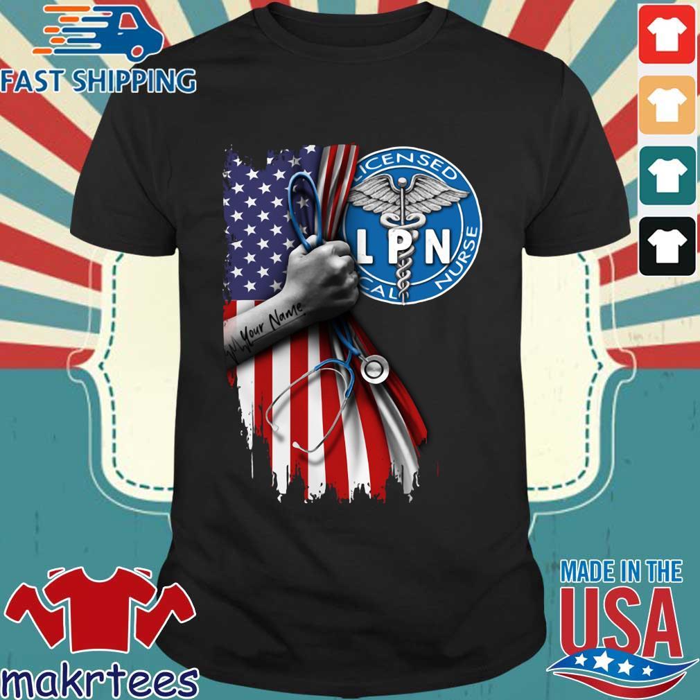 Licensed Practical Nurse Logo American Flag Shirt