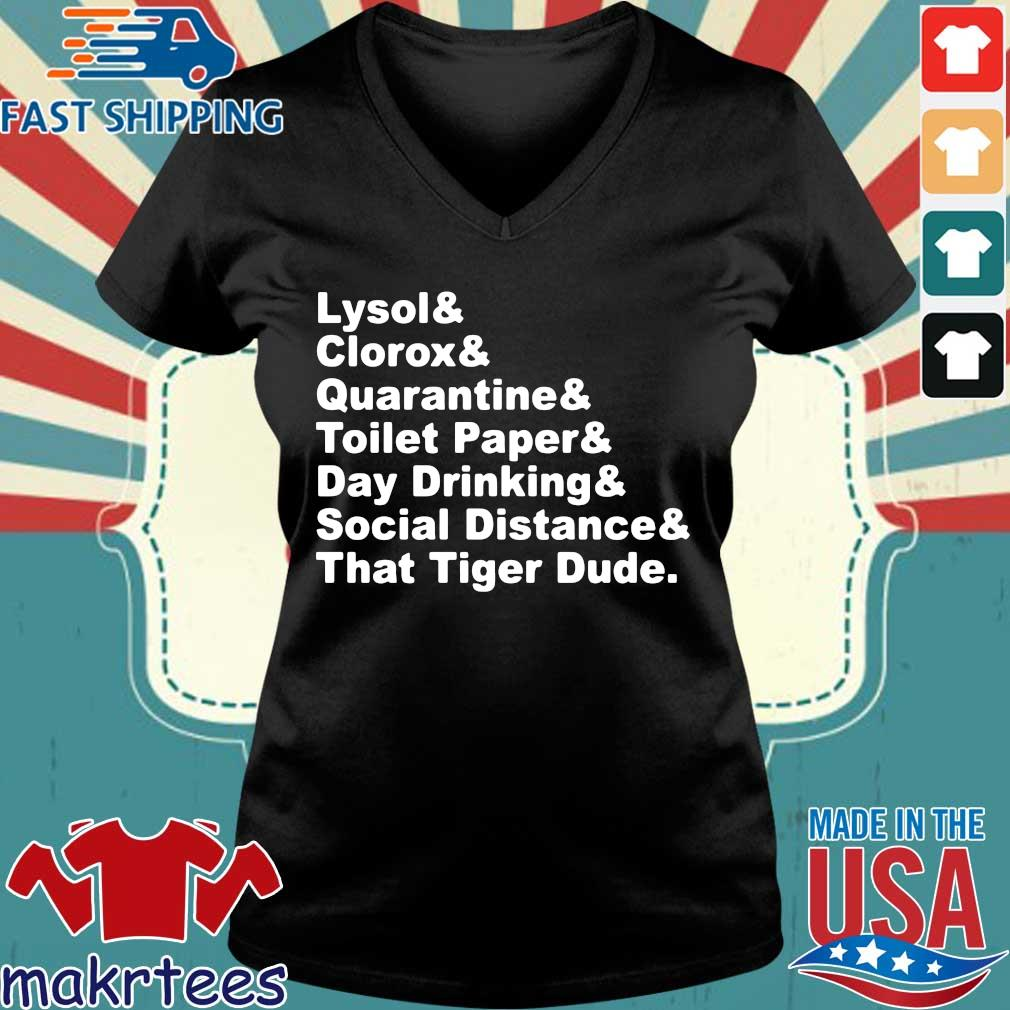 Lysol Clorox Quarantine Toilet Paper Day Drinking Shirt Ladies V-neck den