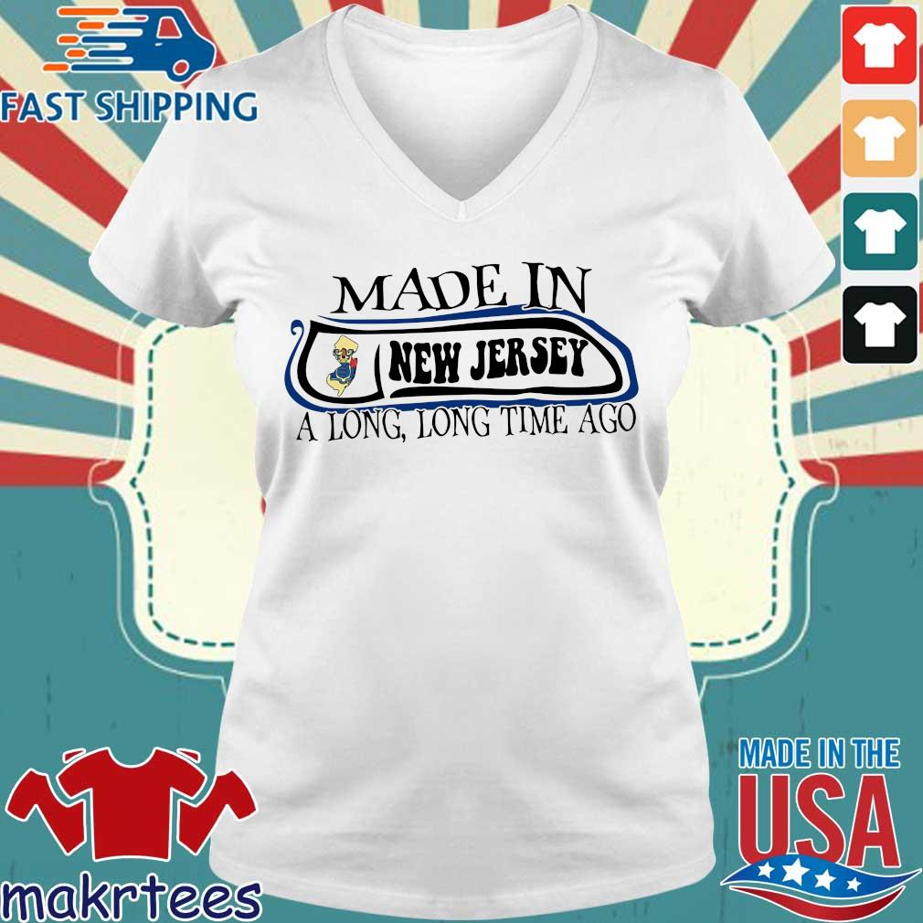 Made In New Jersey Long Long Time Ago Shirt Ladies V-neck trang