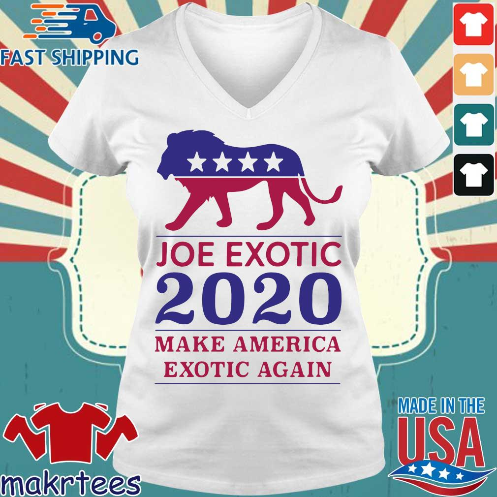 Make America Exotic Again Joe Exotic 2020 Us Shirt Ladies V-neck trang