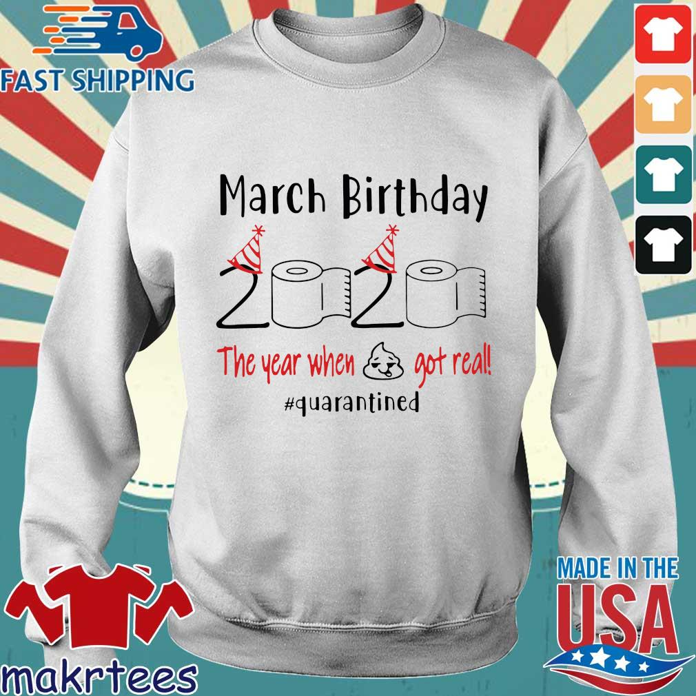 March Birthday 2020 Toilet Paper The Year When Shit Got Real #quarantine Shirts Sweater trang