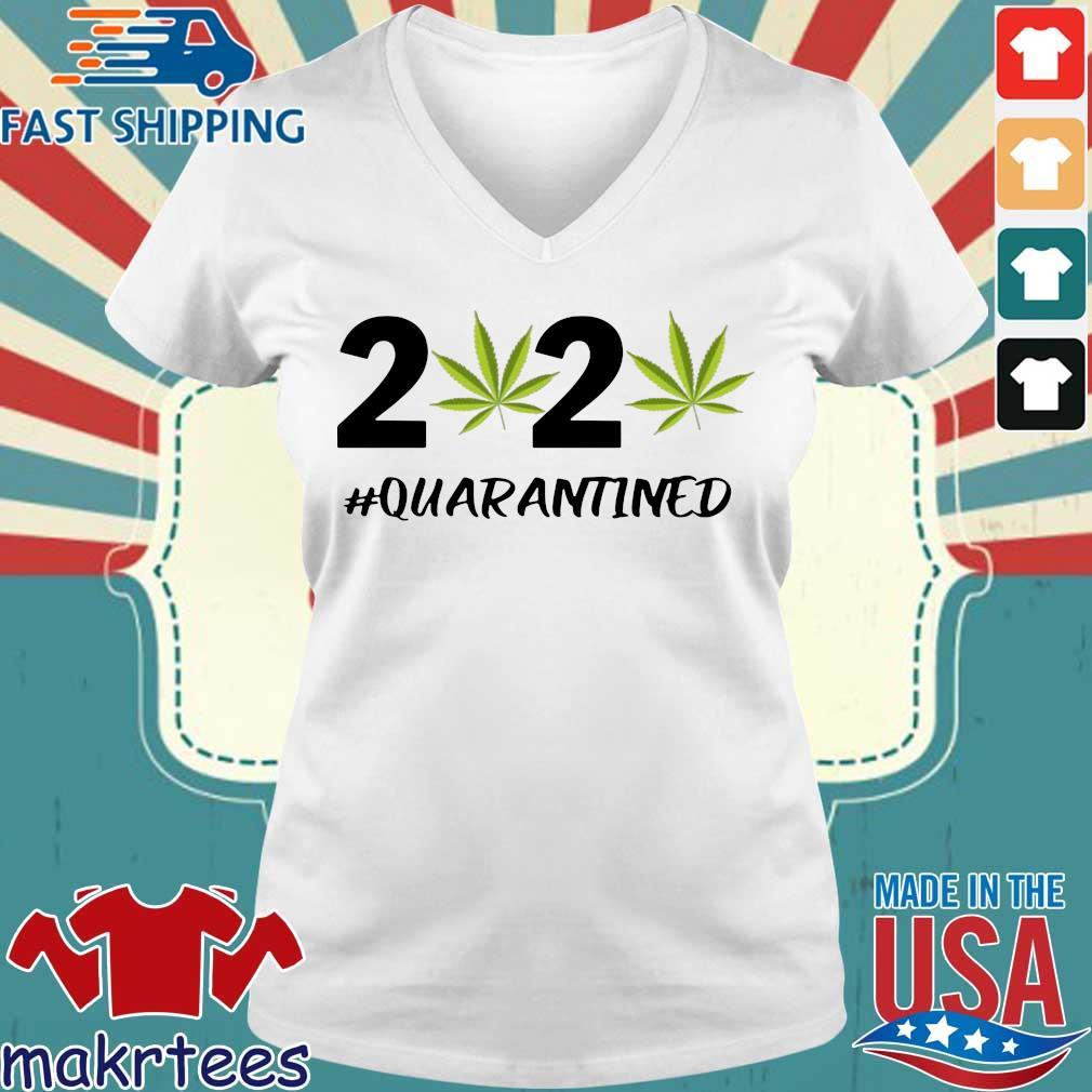 Marijuana 2020 #quarantine Shirt Ladies V-neck trang