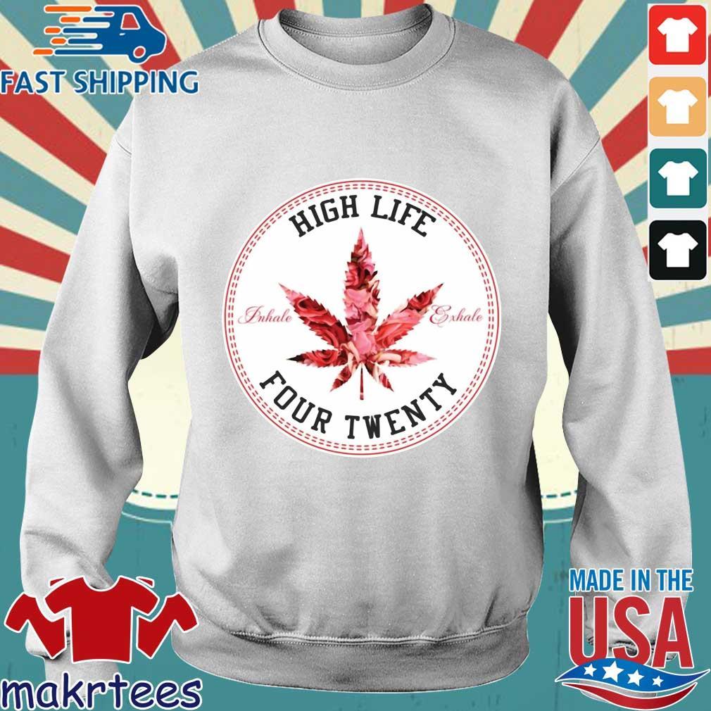 Marijuana High Life Four Twenty Shirt Sweater trang