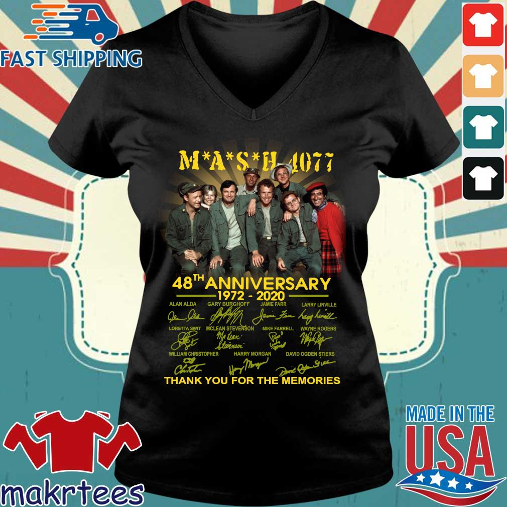 Mash Tv Show 4077 48th Anniversary 1972 – 2020 Thank You For The Memories Shirt Ladies V-neck den