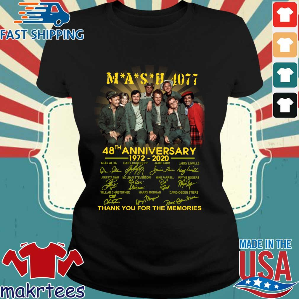 Mash Tv Show 4077 48th Anniversary 1972 – 2020 Thank You For The Memories Shirt Ladies den