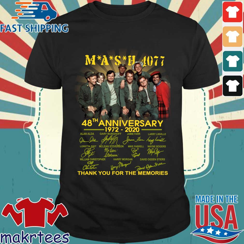 Mash Tv Show 4077 48th Anniversary 1972 – 2020 Thank You For The Memories Shirt