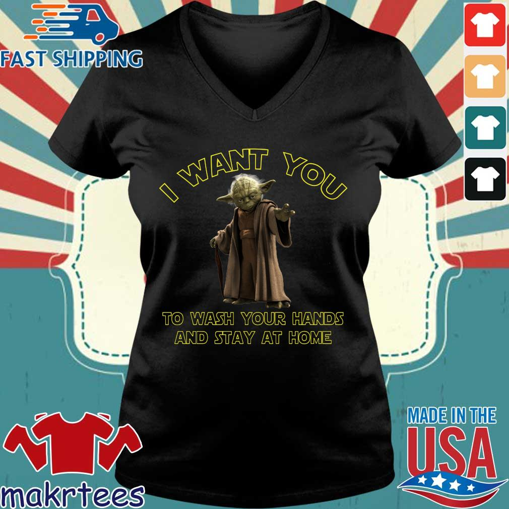 Master Yoda I Want You To Wash Your Hands And Stay At Home Shirt Ladies V-neck den