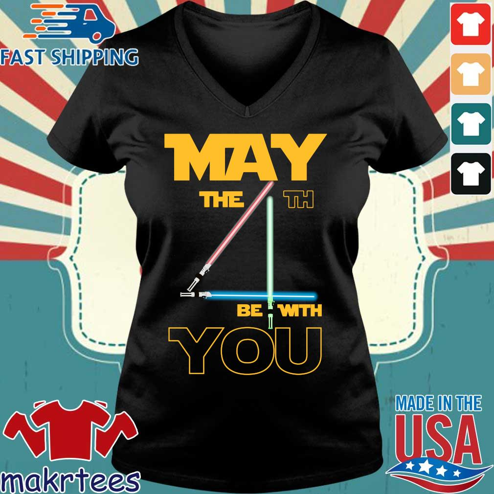 May The 4th Be With You Star Wars Shirt Ladies V-neck den