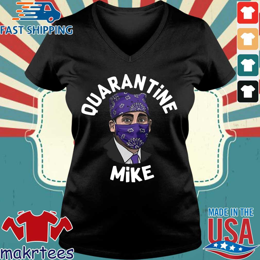 Michael Scott Masked Quarantine Mike Shirt Ladies V-neck den