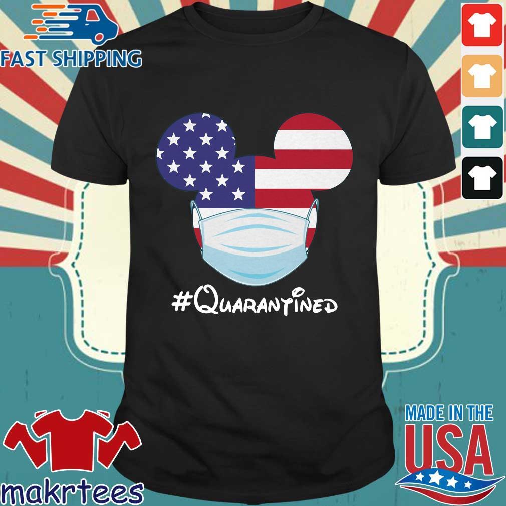 Mickey American Flag Face Mask Quarantined T-shirt