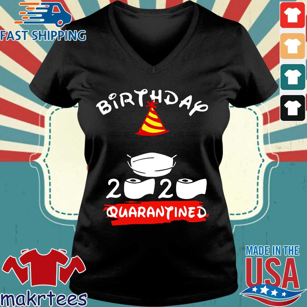 Mickey Mouse Birthday 2020 Quarantine Official Shirt Ladies V-neck den