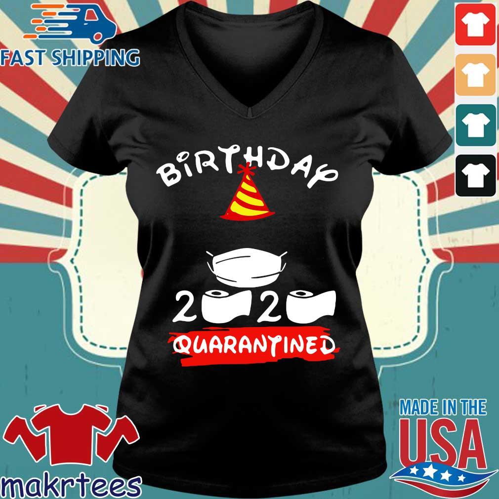 Mickey Mouse Birthday 2020 Quarantine Official Shirt Ladies V-neck den