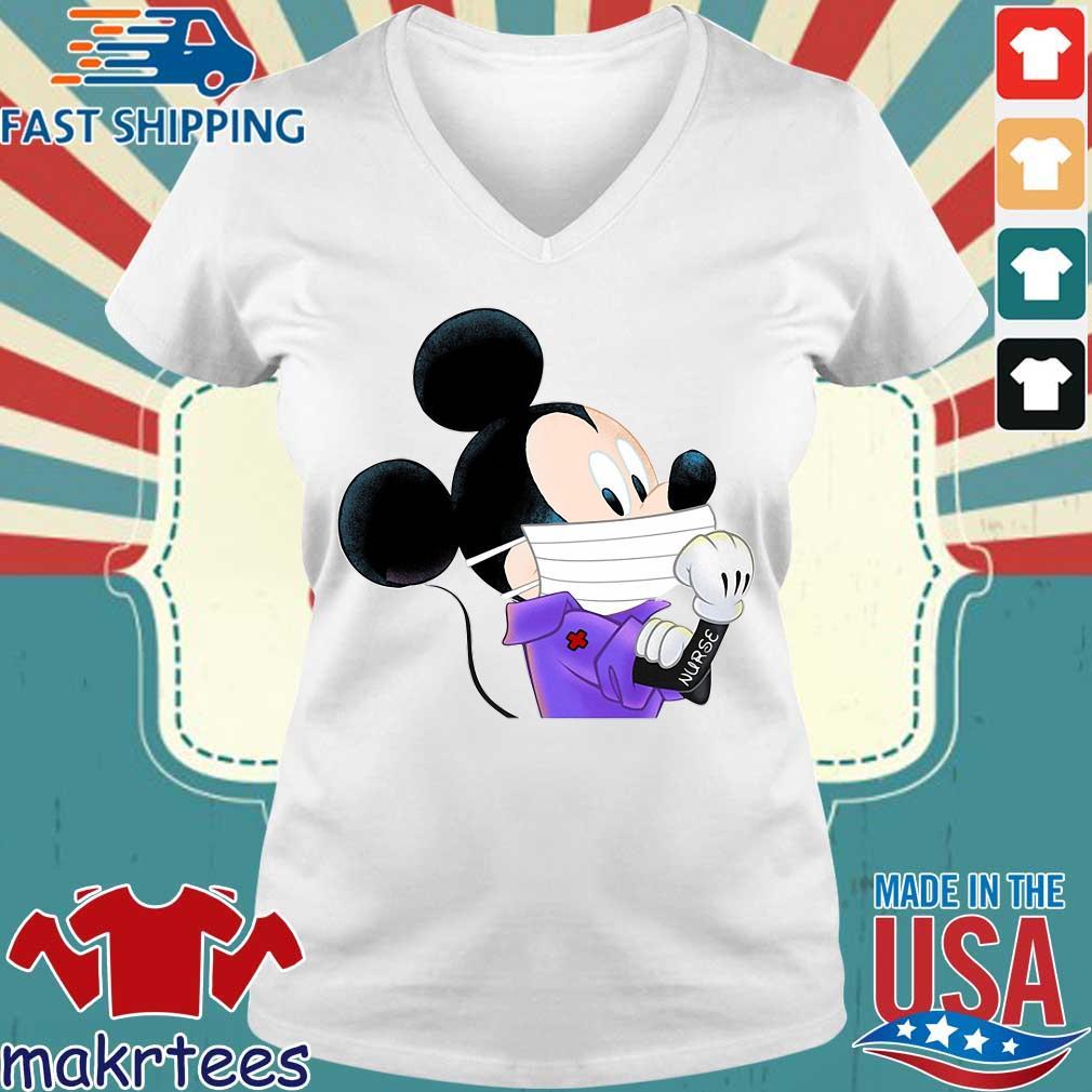 Mickey Mouse Strong Nurse Shirt Ladies V-neck trang