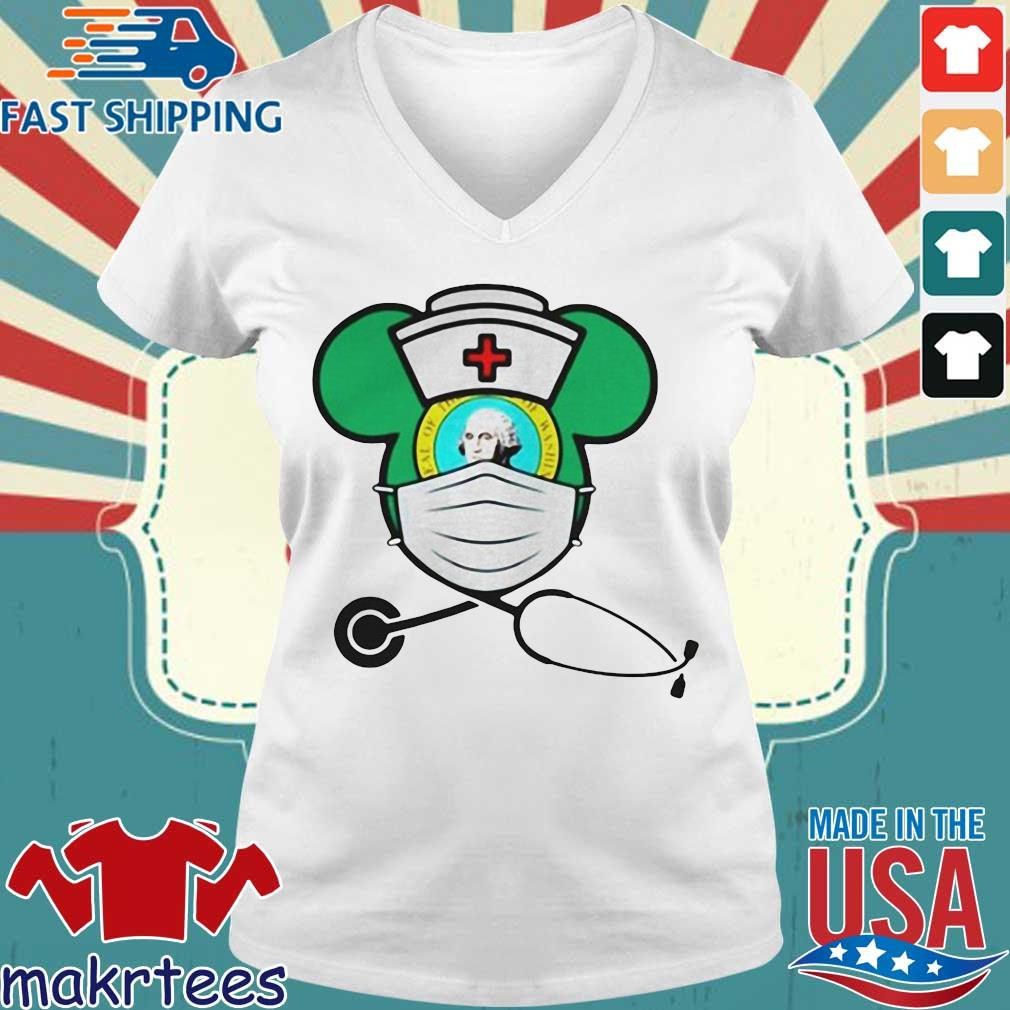 Mickey Nurse Face Mask George Washington Shirts Ladies V-neck trang