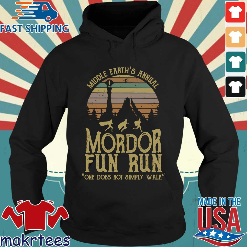 Middle Earth's Annual Mordor Fun Run One Does Not Simply Walk Vintage Shirt Hoodie den