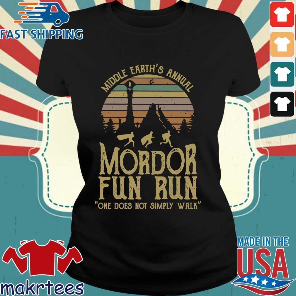 Middle Earth's Annual Mordor Fun Run One Does Not Simply Walk Vintage Shirt Ladies den