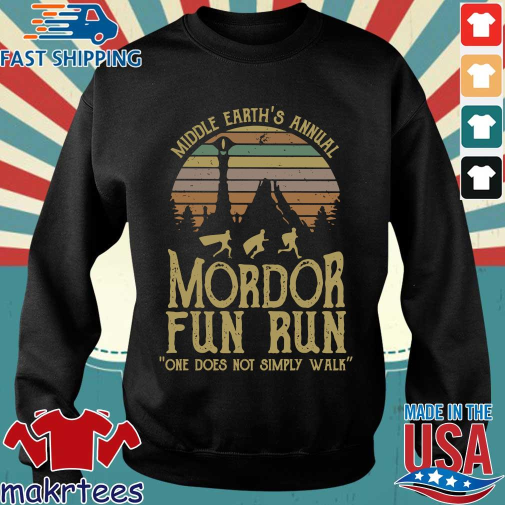 Middle Earth's Annual Mordor Fun Run One Does Not Simply Walk Vintage Shirt Sweater den