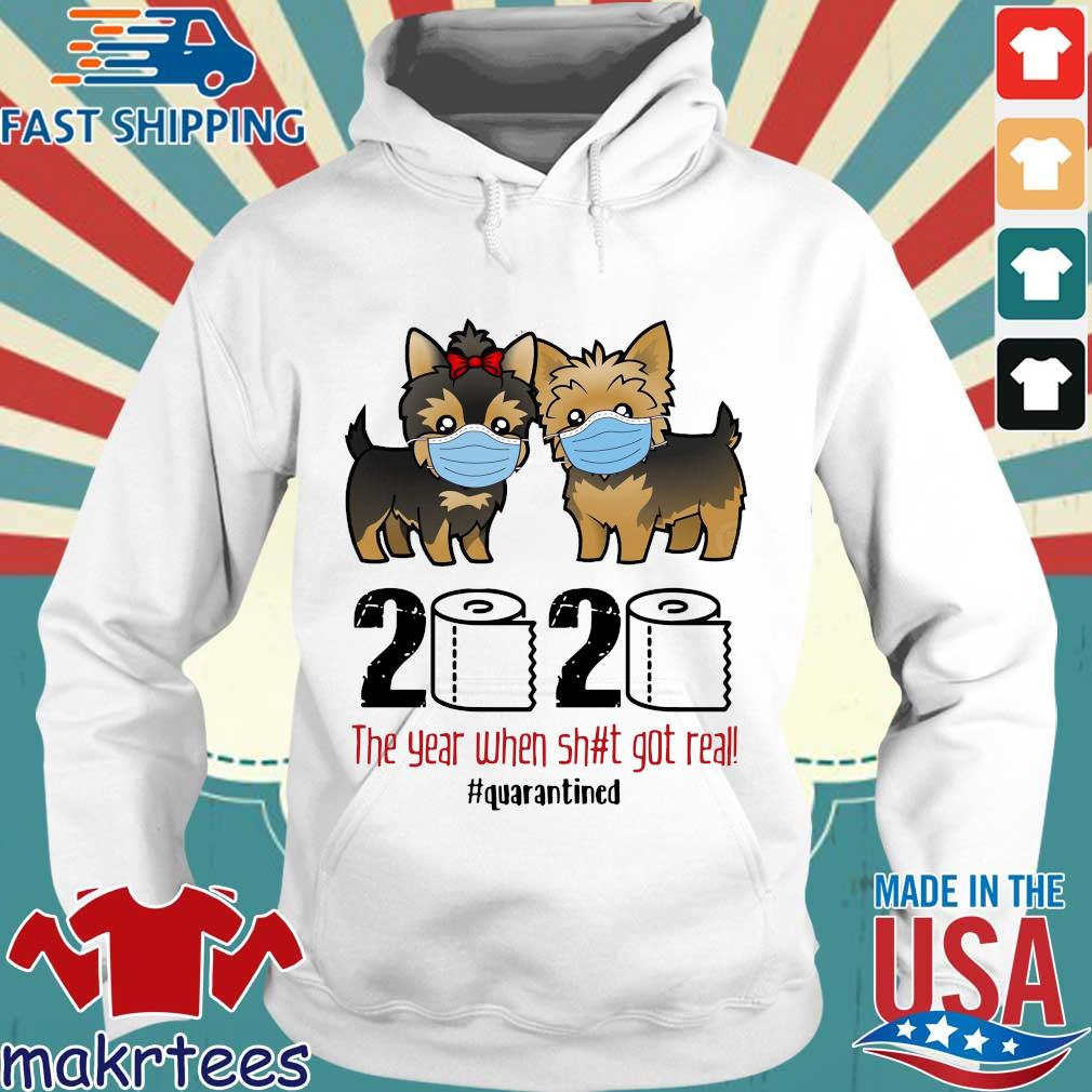 Miniature Schnauzer 2020 the year when shit gt real #quarantined s Hoodie trang