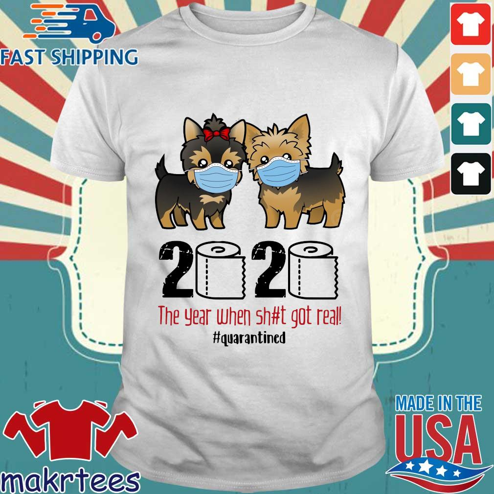 Miniature Schnauzer 2020 the year when shit gt real #quarantined shirt