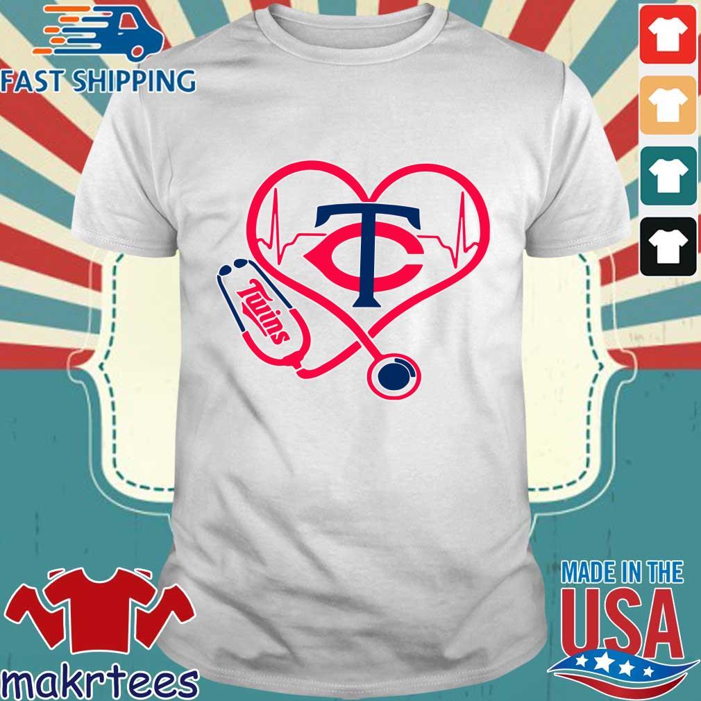Minnesota Twins Baseball Stethoscope Heartbeat Shirt